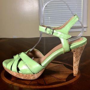 Shoes - 👠Open Toe Patent Leather Platform Hugh Heels
